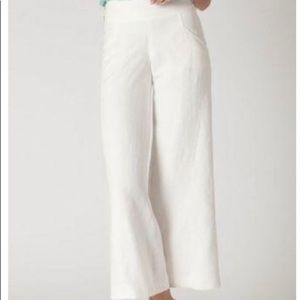 Anthropologie Elevenses Wide Leg Linen Pants
